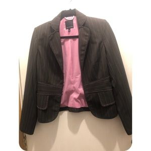The Limited Jackets & Coats - The Limited blazer Brown with Pink stripes